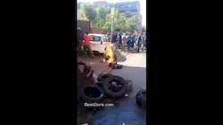 Parasites immigrés brûlés par la foule