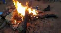 Policier congolais découpé et brûlé par un quartier révolté